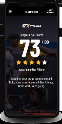 mobile score graphic